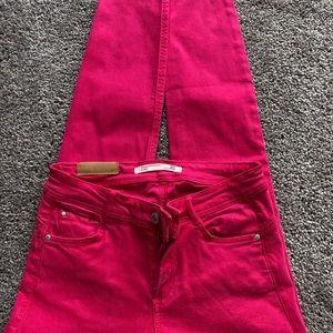 Zara Hot Pink denim